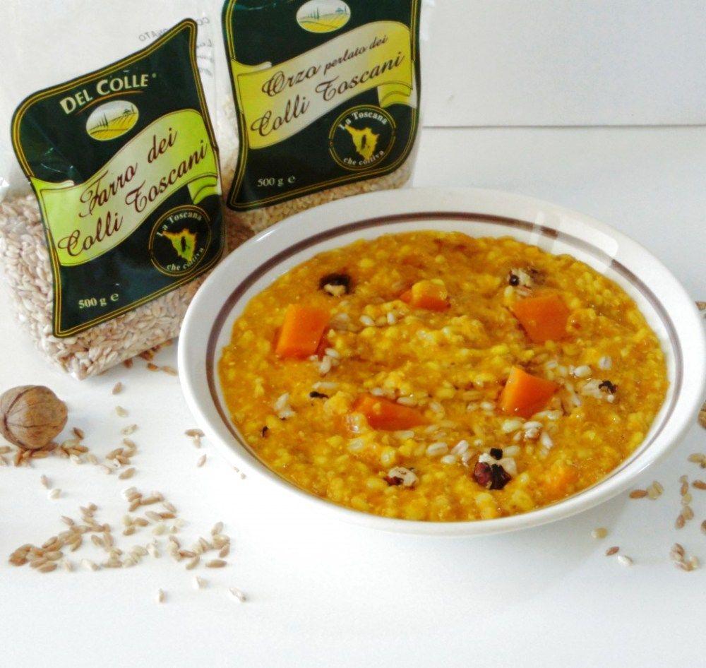Zuppa di Farro e Orzo con Noci e Zucca | Zuppe di farro, Ricette, Ricette vegetariane
